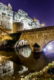 Casemates du Bock and stone bridge in Luxembourg. Europe Royalty Free Stock Image