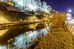 Casemates du Bock and stone bridge in Luxembourg. Europe Royalty Free Stock Photography