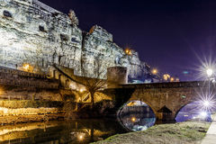 Casemates du Bock and stone bridge in Luxembourg. Europe Royalty Free Stock Photo