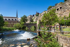 Casemates of Luxembourg. The Casemates of the old fortress in Luxembourg Royalty Free Stock Photography
