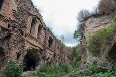 Casemates of ruins Fort Tarakanovskiy. Royalty Free Stock Photography