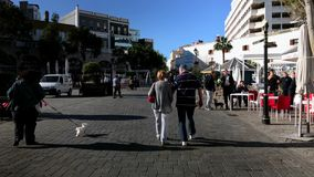 Casemates Square in Gibraltar filled with tourists and locals Stock Photo