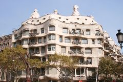 Casa Mila - Barcelona stockbilder