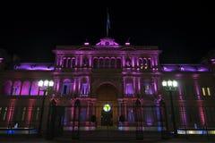Casen Rosada nachts Stockfoto