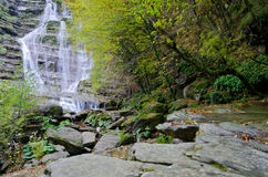 Casentino forest park waterfalls dell'Acquacheta Stock Photo