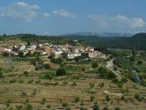 Caseres, Katalonien, Spanien stockbild