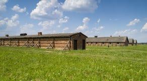 Caserme della prigione nel campo di concentramento fotografia stock libera da diritti