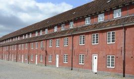 Caserme nella fortezza di Kastellet, Copenhaghen, Danimarca Fotografie Stock Libere da Diritti
