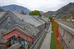 Casernas das forças armadas e o Grande Muralha de China Fotografia de Stock Royalty Free