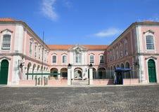 Casernas das forças armadas em Queluz perto do palácio nacional Fotos de Stock Royalty Free