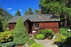 Casernas de madeira do acampamento de internamento japonês, centro memorável de Nikei, Denver nova, Columbia Britânica fotografia de stock