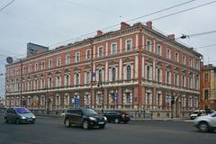 Casernas do leyb-protetor do ø grupo do cavalo e da artilharia em St Petersburg, Rússia imagens de stock