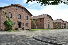 Casernas em Auschwitz Foto de Stock Royalty Free