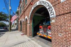Caserne de pompiers de vintage à Charleston, Sc Photographie stock libre de droits