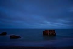 Casernes construisant en mer baltique Photos stock