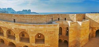 Casernes de soldat de fort de Qaitbay, l'Alexandrie, Egypte image libre de droits