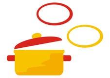 Caserolle и крышка Стоковая Фотография RF