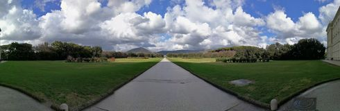 Caserta - Overview of the Park of the Reggia royalty free stock photos
