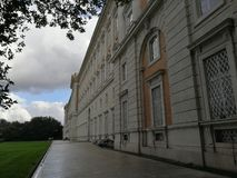 Royal Palace of Caserta - View of the Royal Palace stock photography