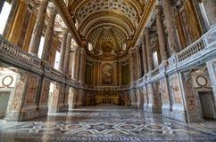 Caserta Campaniaregion, Italien Augusti 22 2016 Den storartade Royal Palace royaltyfri fotografi