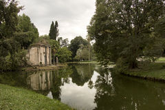 Caserta. A charming corner of the gardens of the Royal Palace of Caserta Royalty Free Stock Image