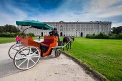 CASERTA, ITALY - SEPTEMBER 24, 2017: Royal Palace of Caserta stock photo