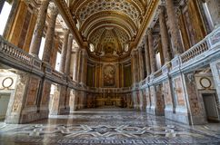 Caserta, Kampanien-Region, Italien am 22. August 2016 Herrliche Royal Palace lizenzfreie stockfotografie