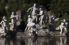 Caserta Palace mail fountain statues detail Royalty Free Stock Photography