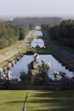 Caserta Palace Royal Garden overview Royalty Free Stock Photos
