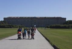 Caserta Royal Palace, άποψη από το πάρκο Στοκ Φωτογραφία