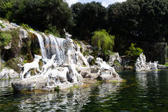 Caserta Royal Palace, πηγές στοκ εικόνα με δικαίωμα ελεύθερης χρήσης