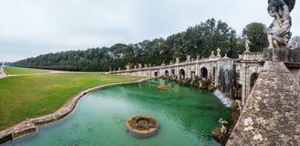 Caserta Royal Palace, Brunnen von Aeolus Stockfoto