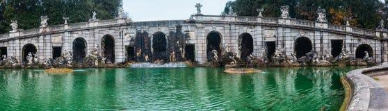 Caserta Royal Palace, Brunnen von Aeolus Lizenzfreies Stockbild