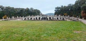Caserta Royal Palace, Brunnen von Aeolus Lizenzfreie Stockfotos