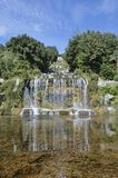 Caserta Royal Palace exterior waterfall Royalty Free Stock Photos