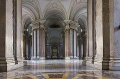 Caserta Royal Palace foajé Royaltyfri Fotografi
