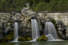 Caserta Royal Palace, fontane Immagine Stock Libera da Diritti