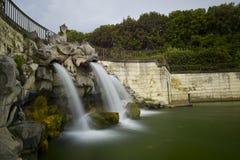 Caserta Royal Palace, fontane Immagini Stock Libere da Diritti