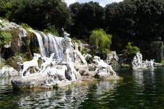 Caserta Royal Palace, fontanny Obraz Royalty Free