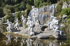 Caserta Royal Palace fountain and waterfall Stock Photo