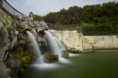 Caserta royal palace, fountains Royalty Free Stock Images