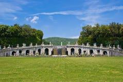 Caserta Royal Palace, fuente de Aeolus Imágenes de archivo libres de regalías