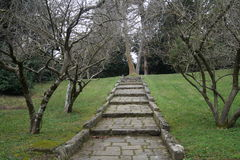 Caserta Royal Palace garden Stock Photos