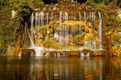 Caserta Royal Palace ,great waterfall Royalty Free Stock Photos