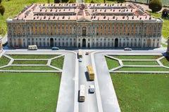 Caserta Royal Palace Italië Mini Tiny stock foto