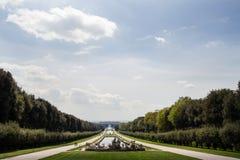 Caserta Royal Palace, piscinas Fotos de archivo