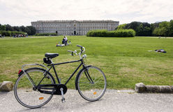Caserta Royal Palace. With a rental bike Stock Photography