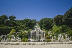 Caserta Royal Palace, statua in grande cascata Fotografia Stock Libera da Diritti