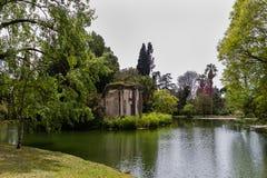Caserta Royal Palace, trädgård Royaltyfria Foton