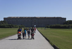 Caserta Royal Palace, view from the park Stock Photography